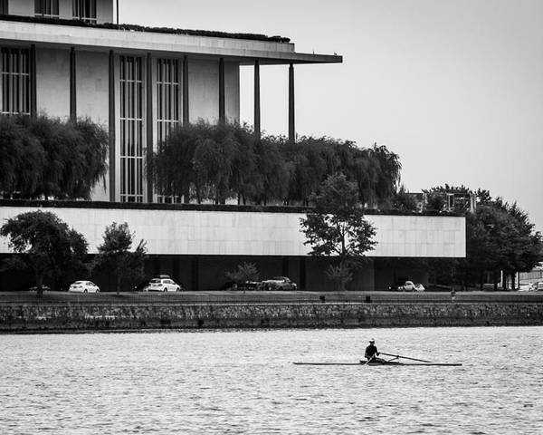 John F. Kennedy Center Poster featuring the photograph The Rower by Alex Banakas
