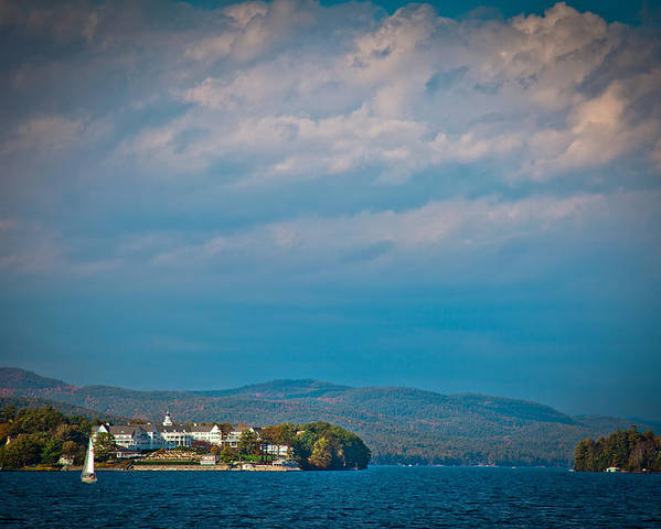 Adirondack's Poster featuring the photograph The Sagamore Hotel On Beautiful Lake George by David Patterson