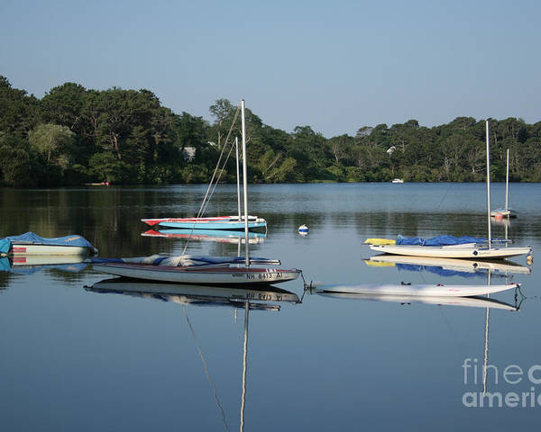 Beach Poster featuring the photograph The Sailboats At Great Pond by John Turek
