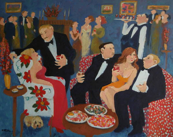 Parties Poster featuring the painting The Same Old Stories by Carole Katchen