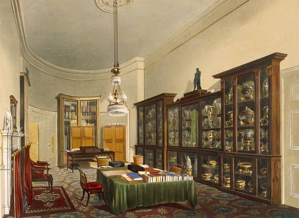 Interior Poster featuring the painting The Secretarys Room, Apsley House by Thomas Shotter Boys