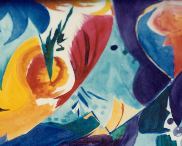Abstract Poster featuring the painting The Seed by Phoenix Simpson