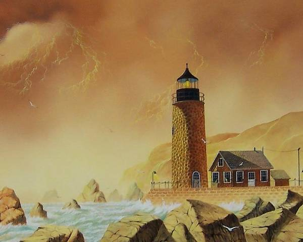 Landscape Poster featuring the painting The Sentinel by Don Griffiths