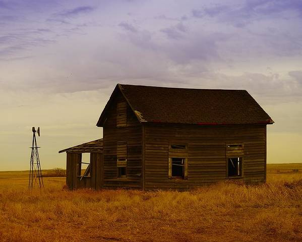 Farm Houses Poster featuring the photograph The Shambles Of Dreams Gone By by Jeff Swan