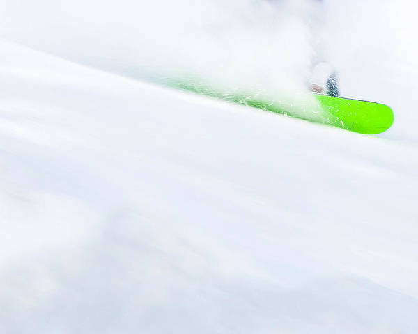 Snowboarder Poster featuring the photograph The Snowboarder And The Snow by Theresa Tahara