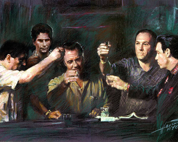 The Sopranos Poster featuring the drawing The Sopranos by Viola El