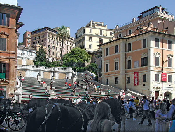 The Spanish Steps Poster featuring the photograph The Spanish Steps by Harold Shull