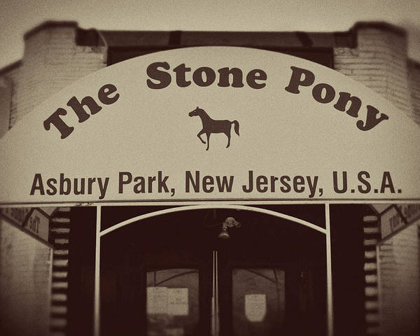 The Stone Pony Vintage Asbury Park New Jersey Poster featuring the photograph The Stone Pony Vintage Asbury Park New Jersey by Terry DeLuco