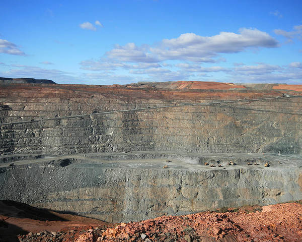 Attraction Poster featuring the photograph The Super Pit by Carl Koenig