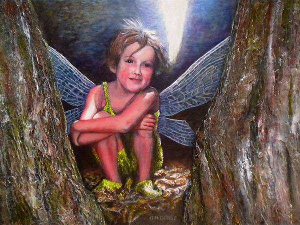 Girl Poster featuring the painting The Tree Fairy by Michael Durst