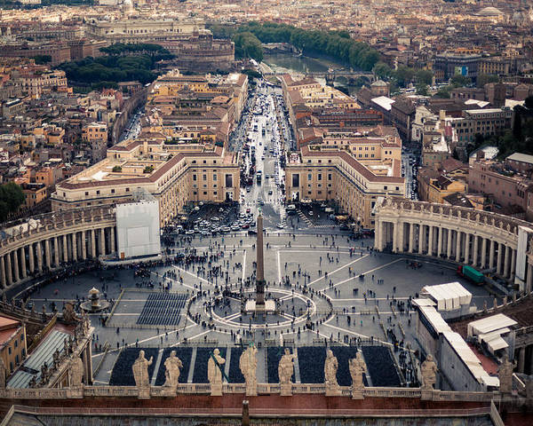Catholicism Poster featuring the photograph The Vatican St. Peter's Square by Alex Anashkin