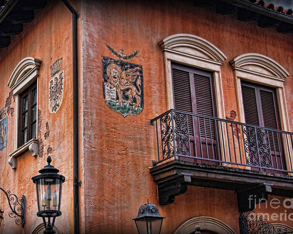 Tuscany Poster featuring the photograph The Venetian Balcony by Lee Dos Santos