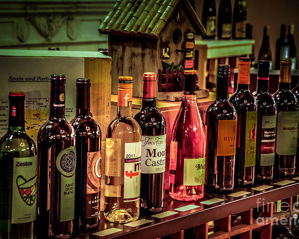Wine Poster featuring the photograph The Wine Shop by Ronald Grogan