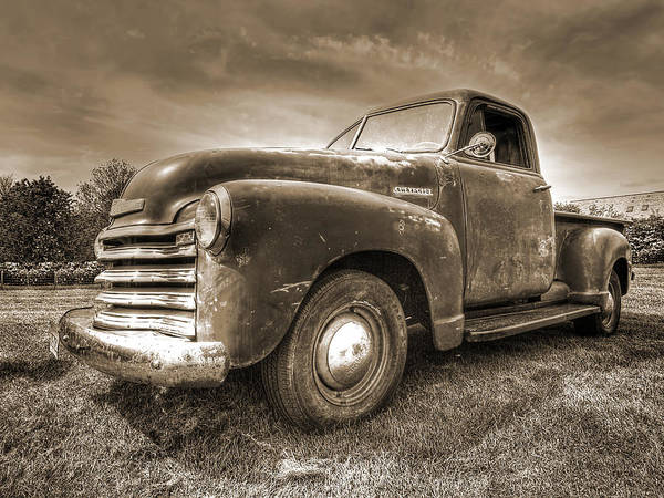 The Workhorse In Sepia - 1953 Chevy Truck Poster