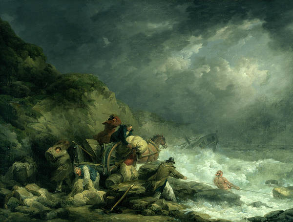 Shipwreck Poster featuring the painting The Wreckers by George Morland