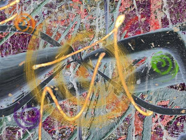 Abstract Poster featuring the digital art The Writing On The Wall 12 by Tim Allen