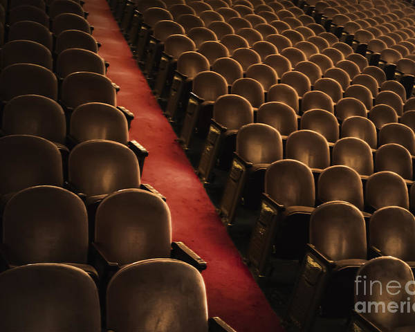 Chairs Poster featuring the photograph Theater Seats by Margie Hurwich
