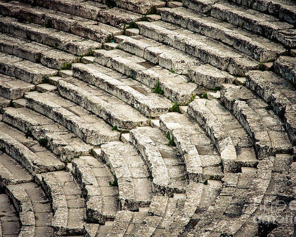 Ancient Poster featuring the photograph Theatre At Epidaurus by Gabriela Insuratelu