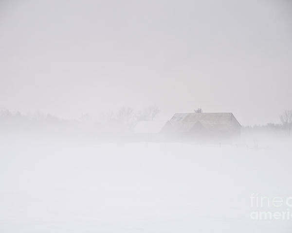 Landscapes Poster featuring the photograph Thick Fog by Cheryl Baxter