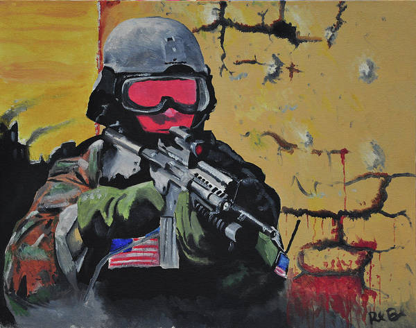 Invasion Poster featuring the painting Think Faster Than Them by Ruben Barbosa
