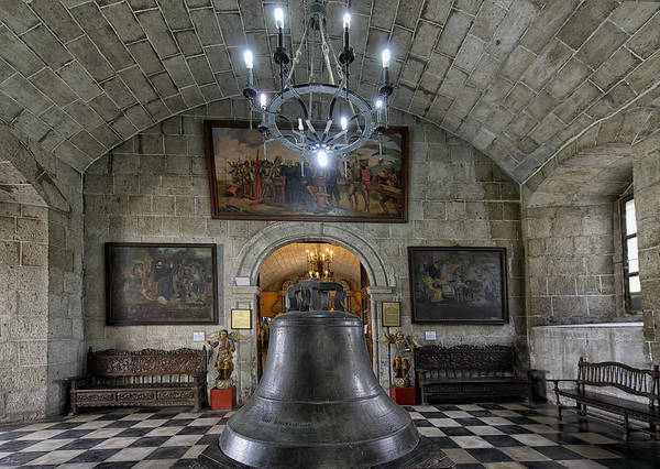 Cathedral Poster featuring the photograph This Is The Philippines No.89 - San Agustin Church Bell by Paul W Sharpe Aka Wizard of Wonders