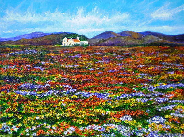 Flower Poster featuring the painting This Must Be Heaven by Michael Durst