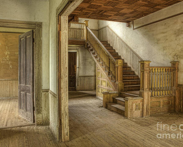 Floor Poster featuring the photograph This Old House by Linda D Lester