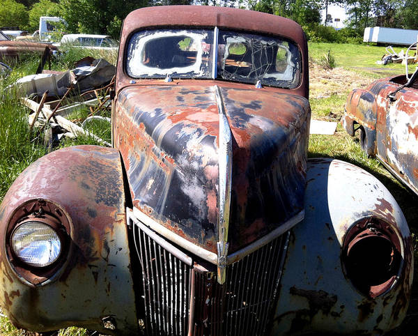 Arkansas Poster featuring the mixed media This Old Truck by Gary Perron