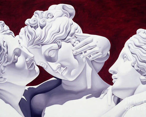 Three Poster featuring the sculpture Three Graces by Catherine Abel