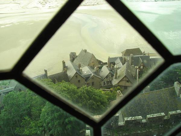 Le Mont St-michel Poster featuring the photograph Through A Window To The Past by Mary Ellen Mueller Legault