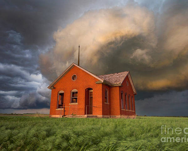 Thunderstorm Poster featuring the photograph Thunderous Plains by Jill Van Doren Rolo