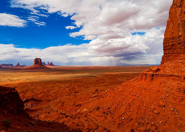 4 Corners Photo Poster featuring the photograph Thunderstorm Artist's Point Monument Valley by Troy Montemayor
