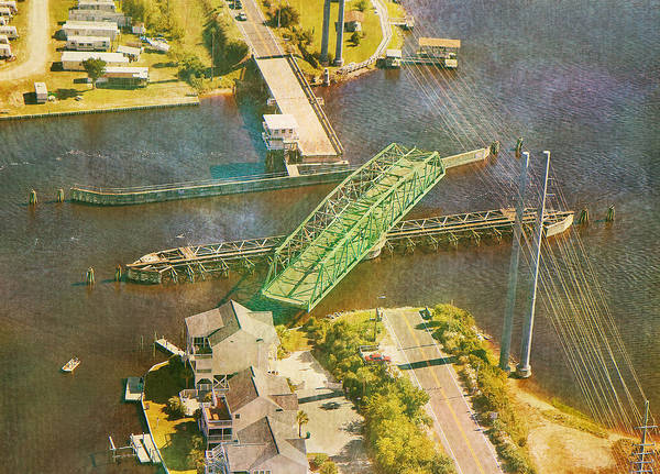 Topsail Poster featuring the photograph Ti Swingin' Swing Bridge by Betsy Knapp