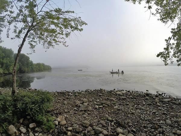 Lake Champlain Poster featuring the photograph Ticonderoga Bass Fishermen by Erik Kaplan