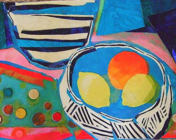Mixed Media Still Life Poster featuring the mixed media Tiddly Winks by Diane Fine