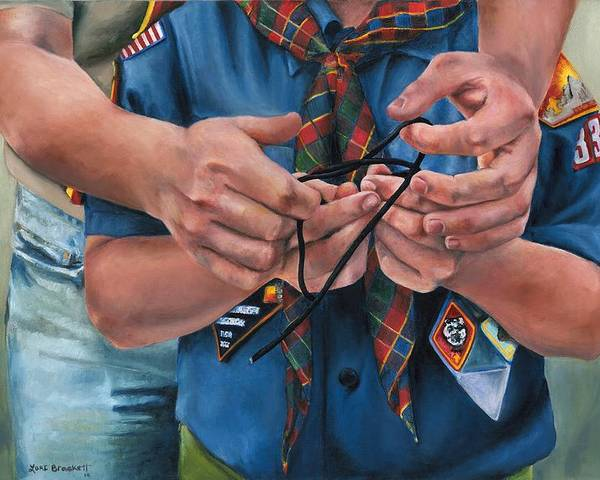 Scout Poster featuring the painting Ties That Bind by Lori Brackett