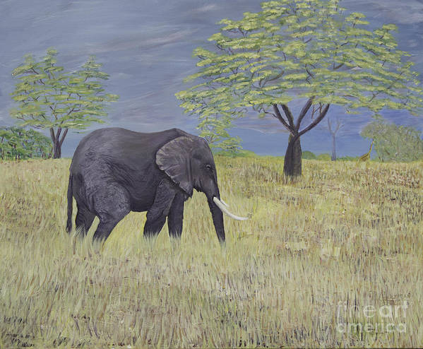 Animals Poster featuring the painting Timbo by Donna Guzman