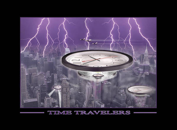 Cityscape Poster featuring the photograph Time Travelers by Mike McGlothlen