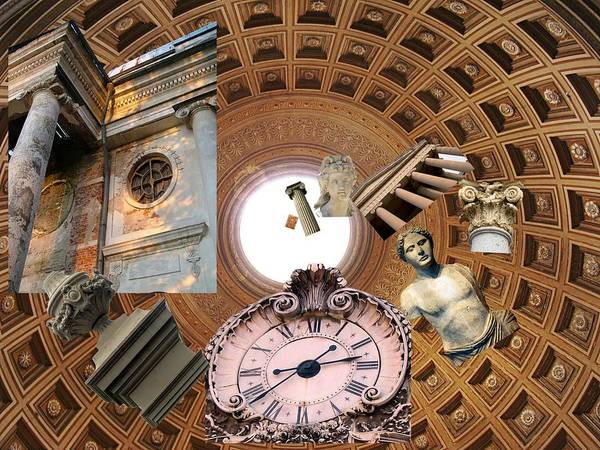 Pantheon Poster featuring the photograph Time Tunnel by Suzanne Powers