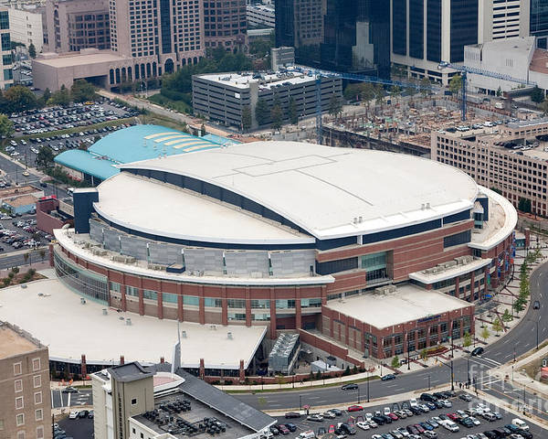 Time Warner Cable Arena Poster featuring the photograph Time Warner Cable Arena by Bill Cobb