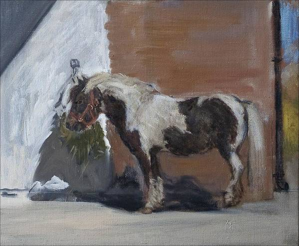 Piebald Horse Poster featuring the painting Tiverton by Caroline Hervey-Bathurst