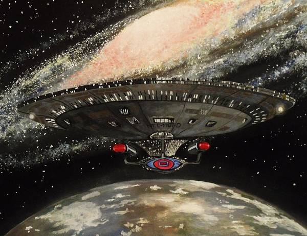 Star Poster featuring the painting To Boldly Go... by Tim Loughner