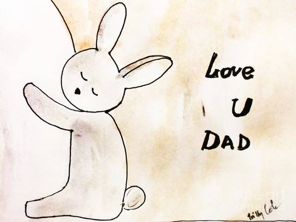 Father's Day Card Poster featuring the painting To Dad by Trilby Cole