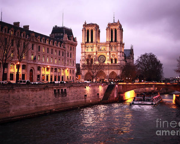 To Notre Dame Poster featuring the photograph To Notre Dame by John Rizzuto