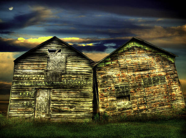 Old Barns Poster featuring the photograph Together Until The End by Thomas Young