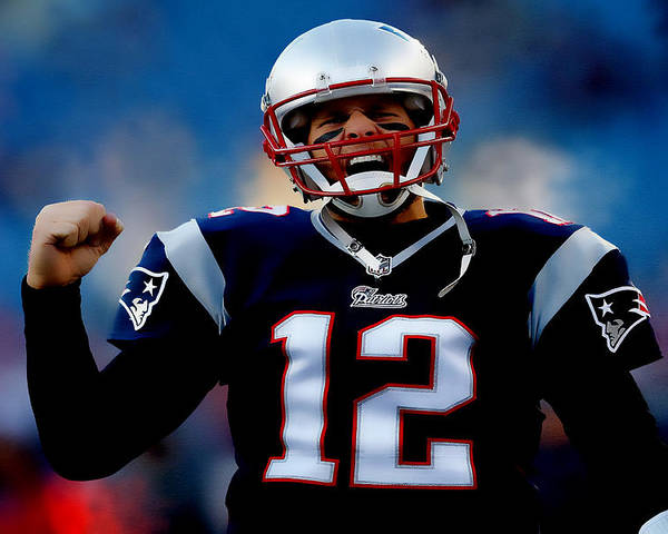 Tom Brady Poster featuring the digital art Tom Brady Back To The Super Bowl by Brian Reaves