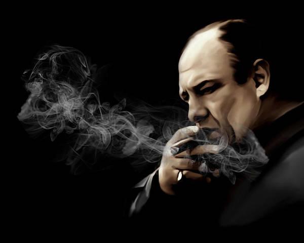 Tony Soprano Poster featuring the digital art Tony Soprano by Laurence Adamson