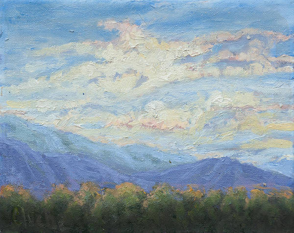Ojai Poster featuring the painting Topa Sky by Patricia Cluche