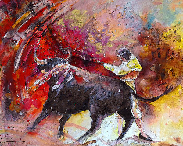Animals Poster featuring the painting Toroscape 47 by Miki De Goodaboom