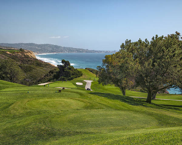 3scape Poster featuring the photograph Torrey Pines Golf Course North 6th Hole by Adam Romanowicz